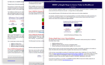 Value Vitals - 3 Simple Steps to Assess Value in Healthcare